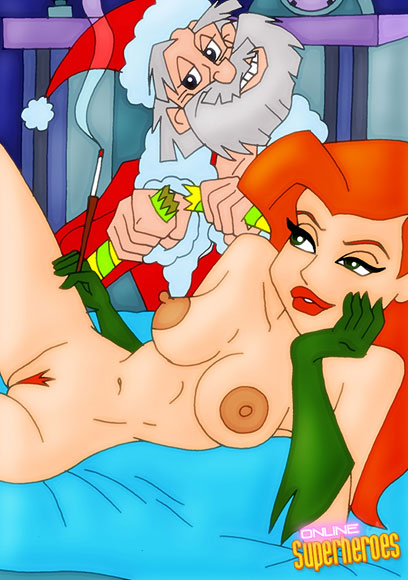 Santa bangs female superheroes