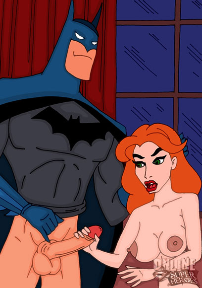 Ivy sucks Batman's cock
