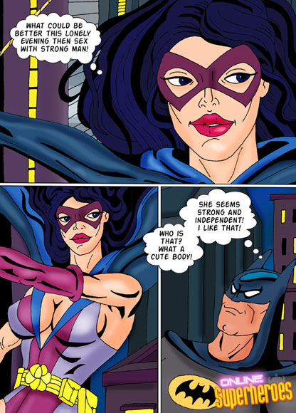 Hungry Huntress and horny Batman