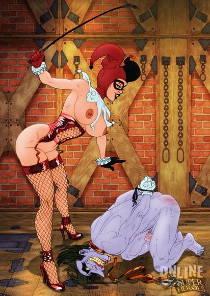Harley Quinn punishes Joker