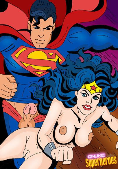 Superman bangs Wonder Woman