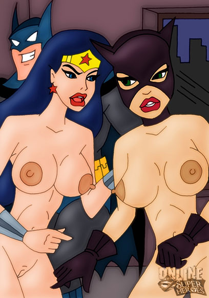 Catwoman and Wonder Woman are fighting over Batman