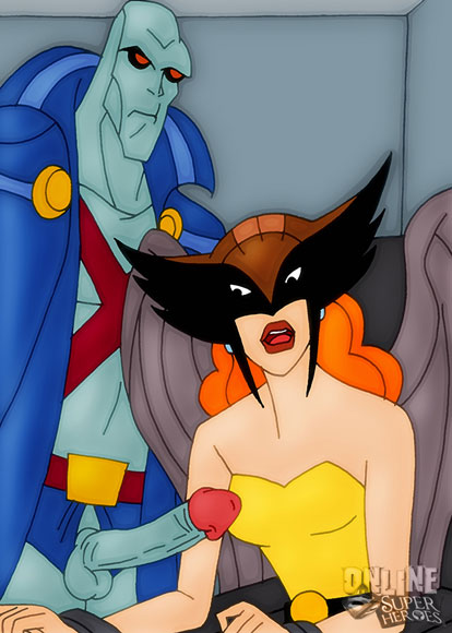 Martian Manhunter bangs Hawkwoman