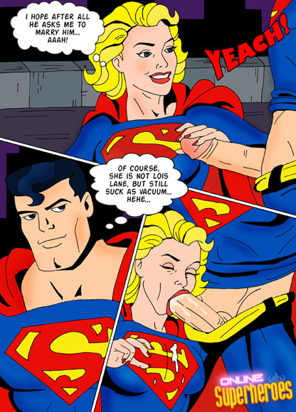 Superheroes have a threesome