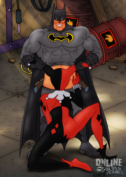 Harley Quinn sucking Batman's dick