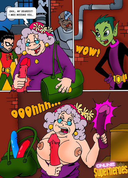 Teen Titans and old lady